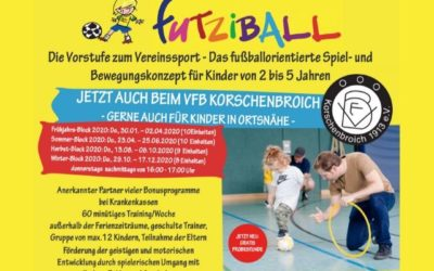 Futziball beim VFB Korschenbroich / Corona-Virus: Vorzeitige Beendigung unseres Frühjahrs-Block